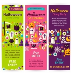 Halloween party invitation flyers vector