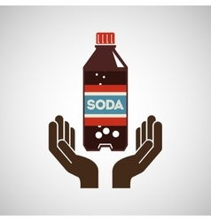 hand with soda icon vector image