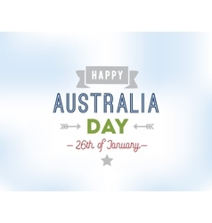 Happy Australia day design vector image vector image