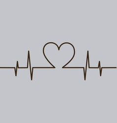 heartbeat love romance line abstract symbol vector image