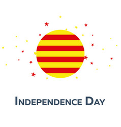 Independence day of catalonia patriotic banner vector