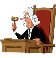 judge vector image vector image