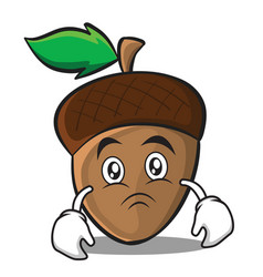moody acorn cartoon character style vector image vector image