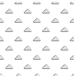 One cloud pattern vector