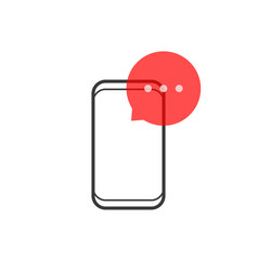 Popup message notification like chat or e-mail vector