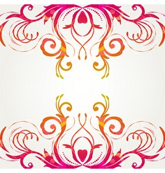 Retro floral background for vintage design vector image