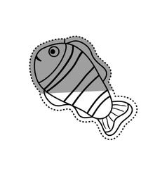 Sea fish animal vector
