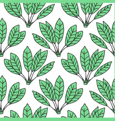 seamless tropical jungle palm leaves pattern vector image vector image