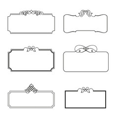 set of decorative frames vector image