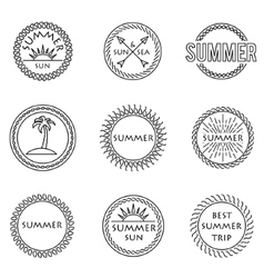 set of stamp vector image vector image