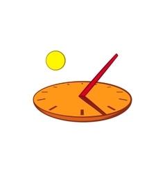 Sundial icon in cartoon style vector