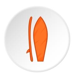 Surfboard icon cartoon style vector image vector image