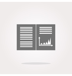 Text file sign icon add file document with chart vector