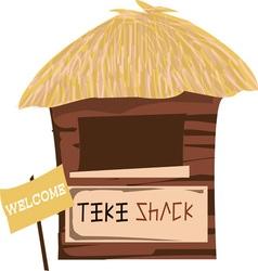 Tiki shack welcome vector