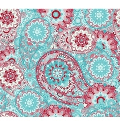 Traditional oriental seamless paisley pattern vector