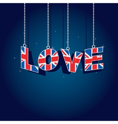united kingdom love vector image