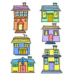 Vetor house colorful set vector