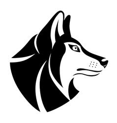 Wolf head symbol vector