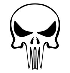 cartoon skull ink sketch vector image