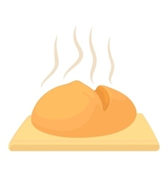 Fresh loaf icon cartoon style vector