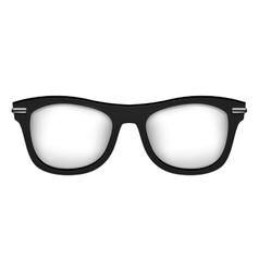 Realistic glasses in black white vector image