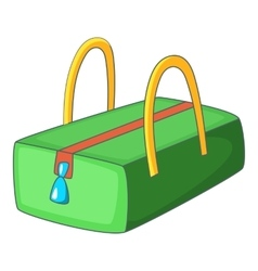 Little woman bag icon cartoon style vector image