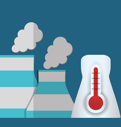 nuclear power plant temperature vector image