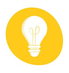 bulb light creativity innovation icon color vector image