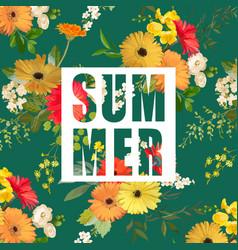 Flowers summer graphic flower background vector