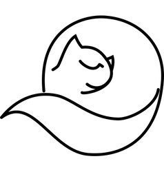 Cat roll vector