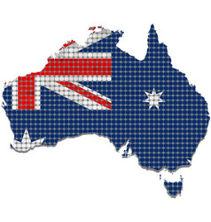 Australia grunge map with flag inside vector