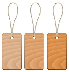 Wooden tags vector