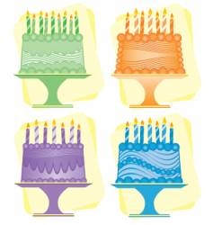 Birthday cakes vector
