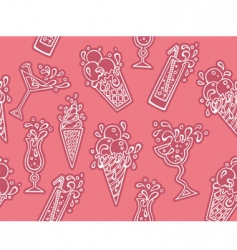 ice-cream cocktails vector image