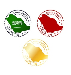 Made in saudi arabia stamp vector