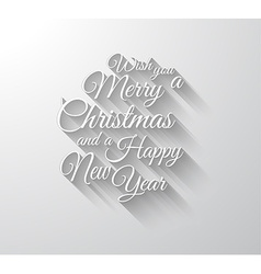Merry chrstimas retro typography slogan with long vector