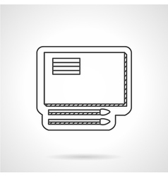 Drawing items line icon vector