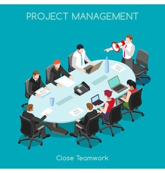 Business 03 People Isometric vector image