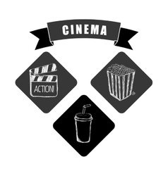 Cinema icons design vector