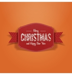 Christmas paper greeting card on snow background vector