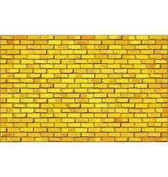 Yellow brick wall vector