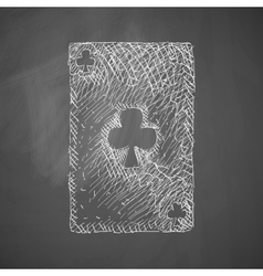 Playing card icon vector