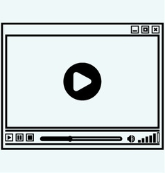 Abstract symbol of video player vector