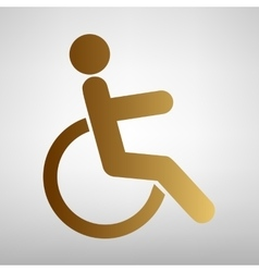 Disabled sign flat style icon vector