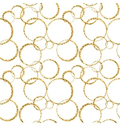 gold circle chaotic white 1 vector image