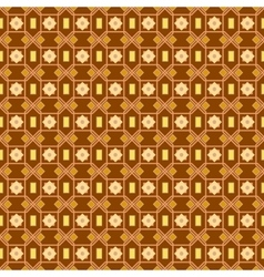 An orange seamless pattern background with a cubic vector