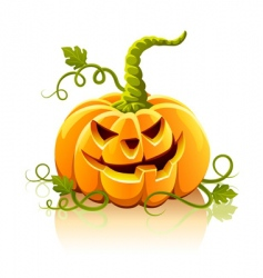 Frightful halloween pumpkin vegetable isolate vector