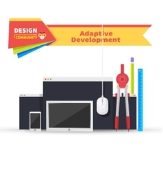 Adaptive development tablet and paint tools vector