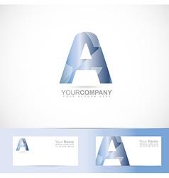 Alphabet letter a logo vector
