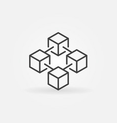 blockchain concept icon in thin line style vector image vector image